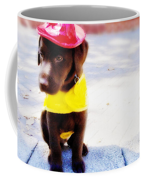 Dog Coffee Mug featuring the photograph Fire Pup Ready To Roll by Toni Hopper