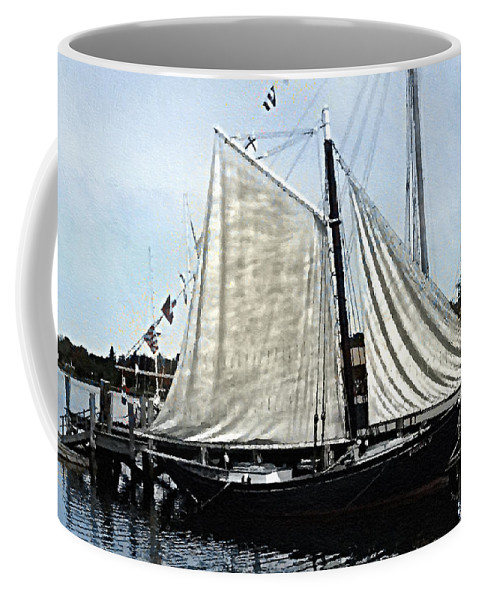 Antique Coffee Mug featuring the painting Ready To Sail by RC DeWinter