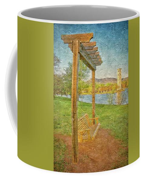 Swing Coffee Mug featuring the photograph Ready to Swing at Furman, Greenville, South Carolina by Zayne Diamond Photographic