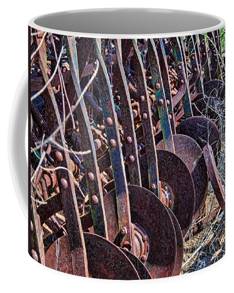 Disc Coffee Mug featuring the photograph Ready To Till by Randy Waln