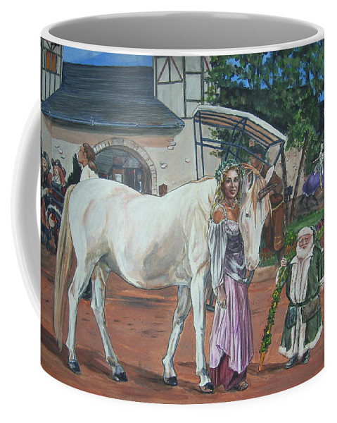 Renaissance Coffee Mug featuring the painting Real Life In Her Dreams by Bryan Bustard
