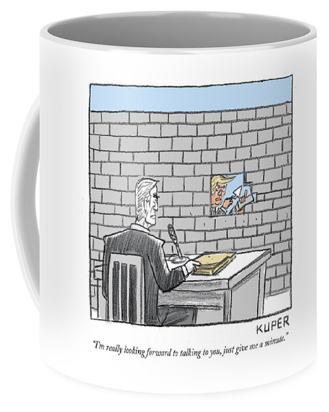 Really Looking Forward To Talking Coffee Mug For Sale By Peter Kuper