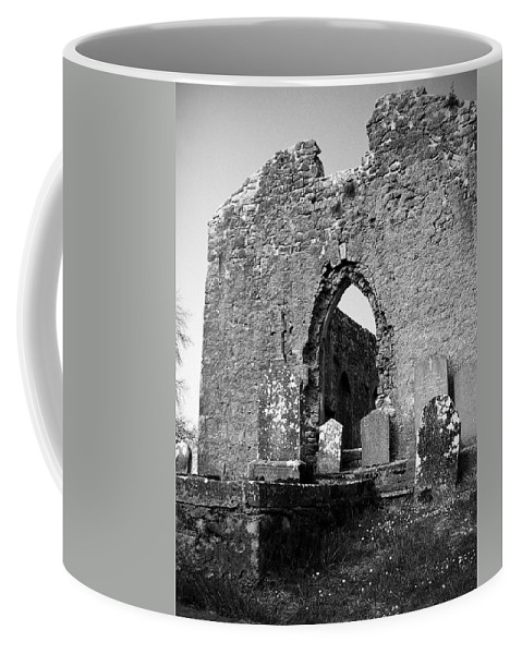 Ireland Coffee Mug featuring the photograph Rear Entrance Fuerty Church Roscommon Ireland by Teresa Mucha