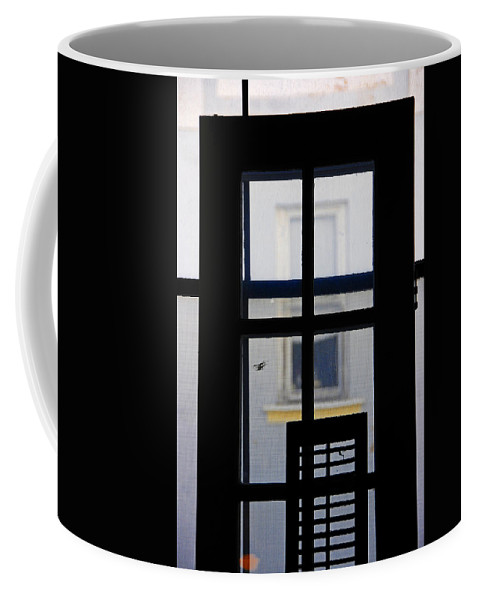 Architecture Coffee Mug featuring the photograph Rear Window 2 by Skip Hunt
