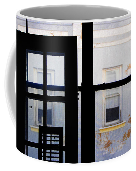 Architecture Coffee Mug featuring the photograph Rear Window 3 by Skip Hunt
