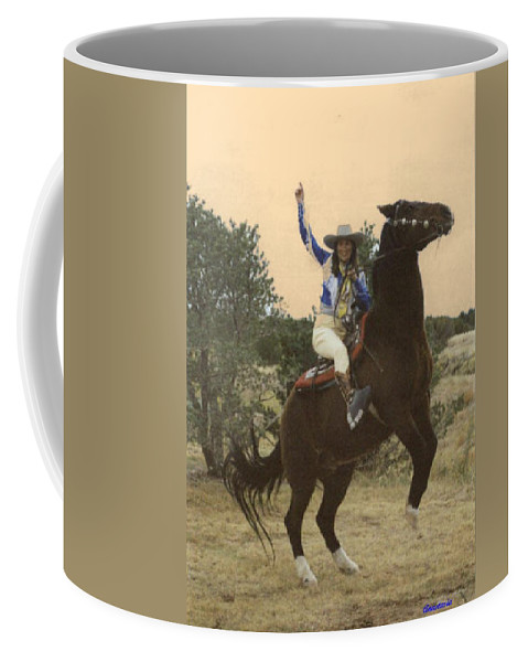 Western Art Coffee Mug featuring the photograph Rearing To Go by Anastasia Savage Ealy