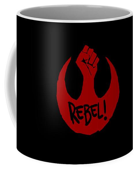 Star Wars Coffee Mug featuring the digital art Rebel by Gerry Kalina