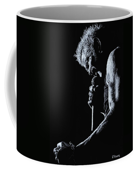 Musician Coffee Mug featuring the pastel Rebel Yell by Richard Young