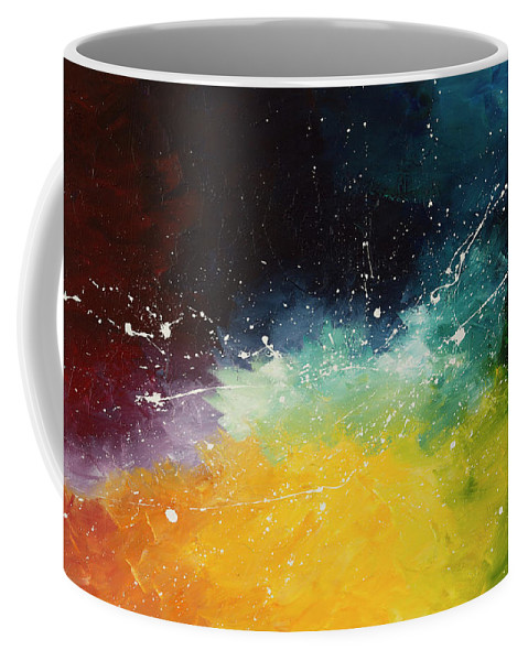 Abstract Coffee Mug featuring the painting Rebirth by Chelsie Ring