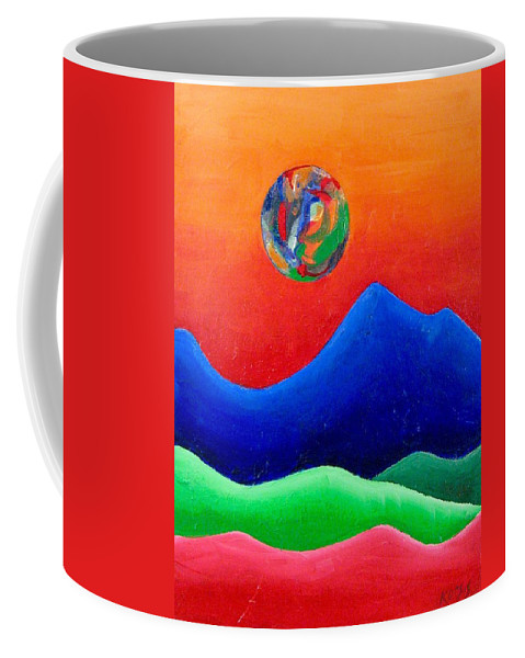 Landscape Coffee Mug featuring the painting Rebirth by Rollin Kocsis