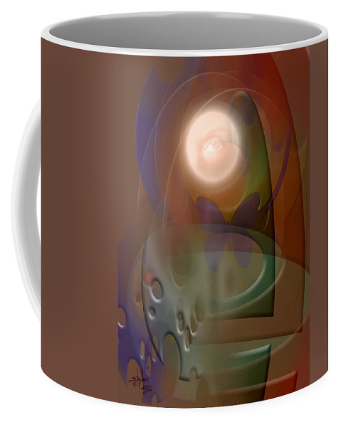 Abstract Coffee Mug featuring the digital art Rebirth by Stephen Lucas