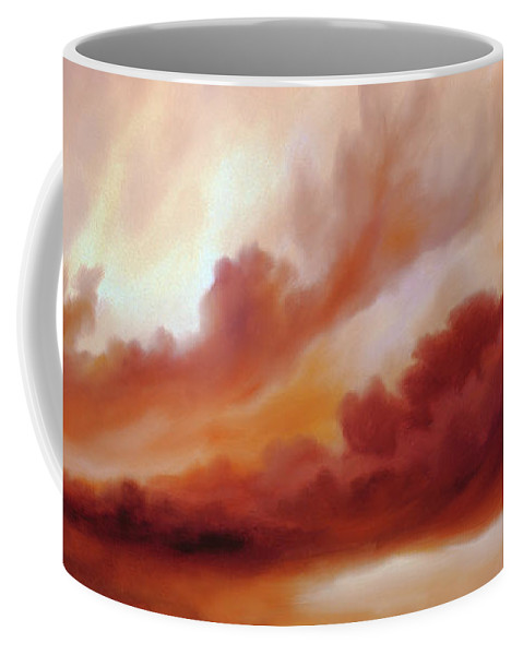 Skyscape Coffee Mug featuring the painting Receding Storm Sketch III by James Christopher Hill