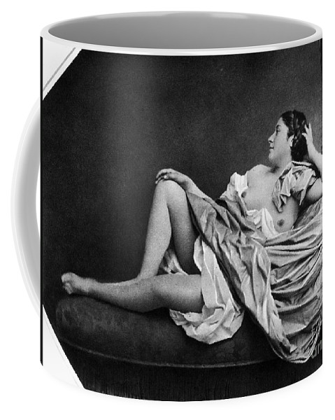 1859 Coffee Mug featuring the photograph Reclining Nude, 1859 by Granger