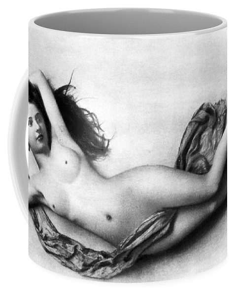 Coffee Mug featuring the painting Reclining Nude, C1900 by Granger