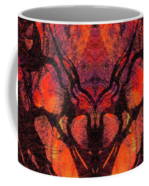 Red Coffee Mug featuring the painting Red Abstract Art - Heart Matters - Sharon Cummings by Sharon Cummings