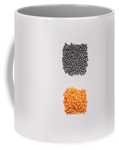 Still Life Photography Coffee Mug featuring the photograph Red And Black Lentils by Scott Norris