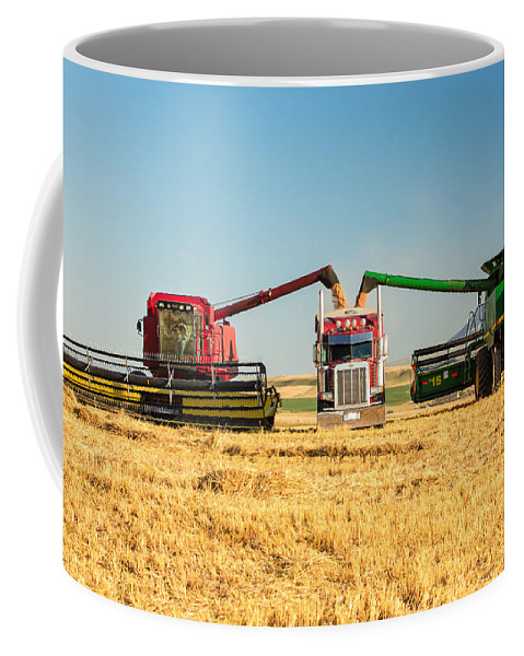 Two Coffee Mug featuring the photograph Red And Green by Todd Klassy