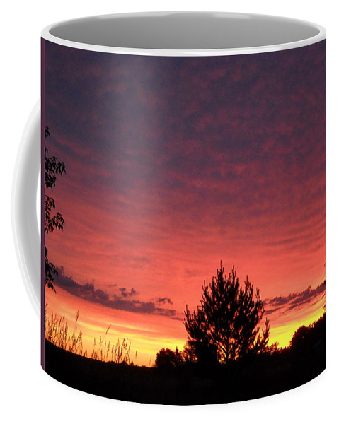 Clouds Coffee Mug featuring the photograph Red And Orange June Dawn Sky by Kent Lorentzen
