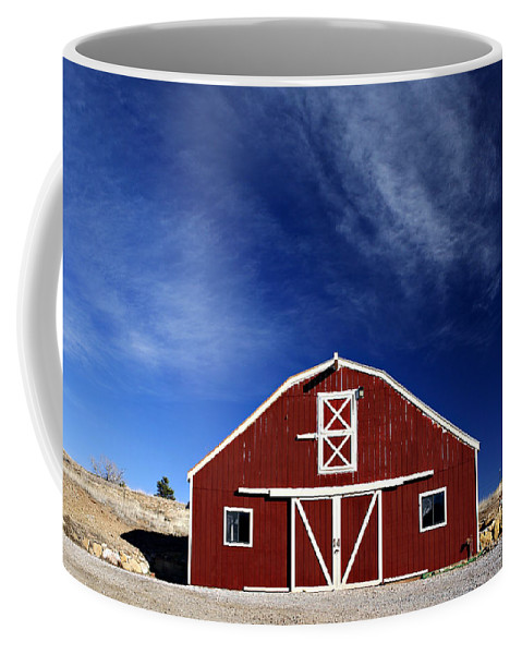 Americana Coffee Mug featuring the photograph Red And White Barn by Marilyn Hunt