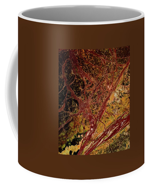 Abstract Coffee Mug featuring the photograph Red And Yellow Abstract by Denise Mazzocco