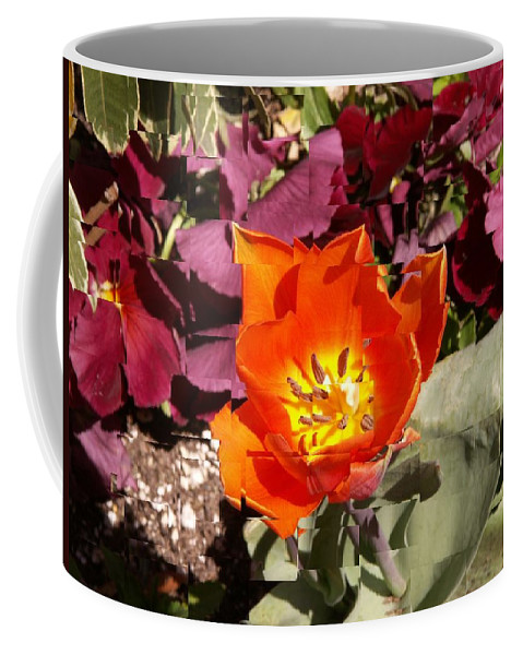 Flower Coffee Mug featuring the digital art Red And Yellow Flower by Tim Allen