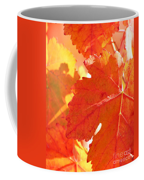Leaves Coffee Mug featuring the photograph Red And Yellow by Melanie Rainey