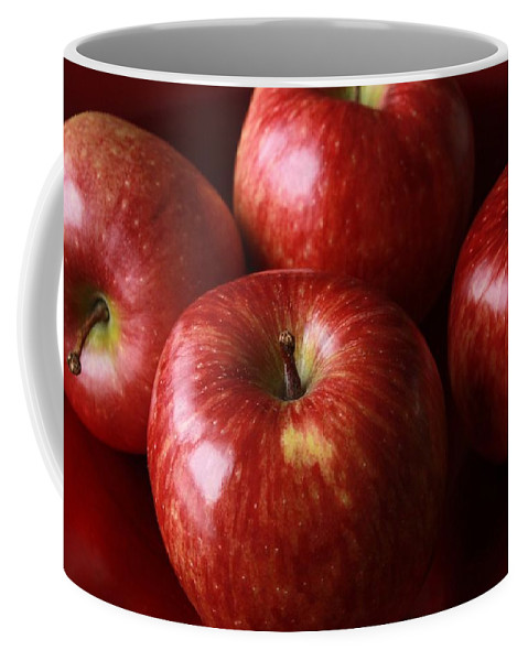 Red Coffee Mug featuring the photograph Red Apples by FL collection