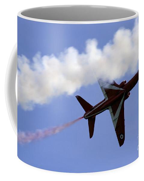 Red Arrows Coffee Mug featuring the photograph Red Arrow by Angel Ciesniarska