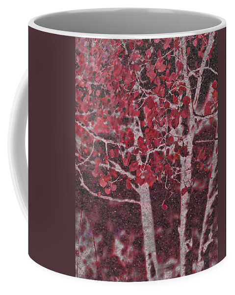 Red Coffee Mug featuring the photograph Red Aspen by Jim And Emily Bush