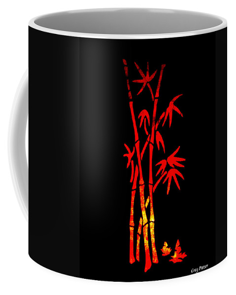 Patzer Coffee Mug featuring the photograph Red Bamboo by Greg Patzer