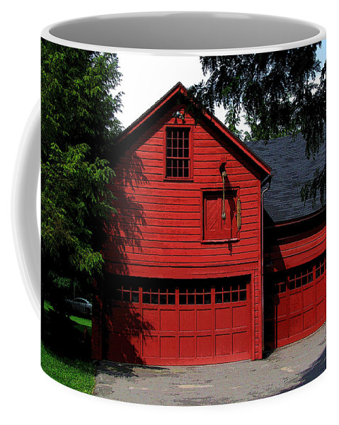 Barn Coffee Mug featuring the photograph Red Barn by Jeff Watts