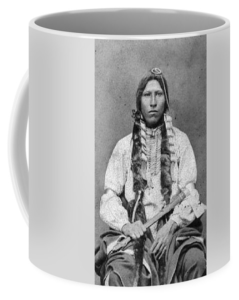 Red Blanket A Native American Cheyenne Man 1880 Coffee Mug For Sale By Celestial Images