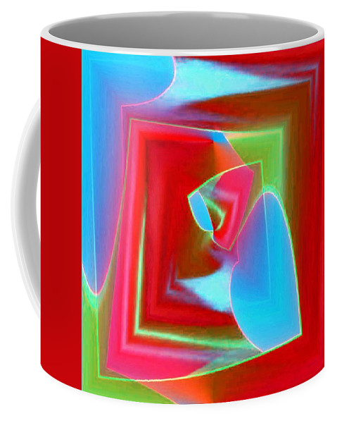 Tubes Coffee Mug featuring the photograph Red Blue Cubed by Tim Allen