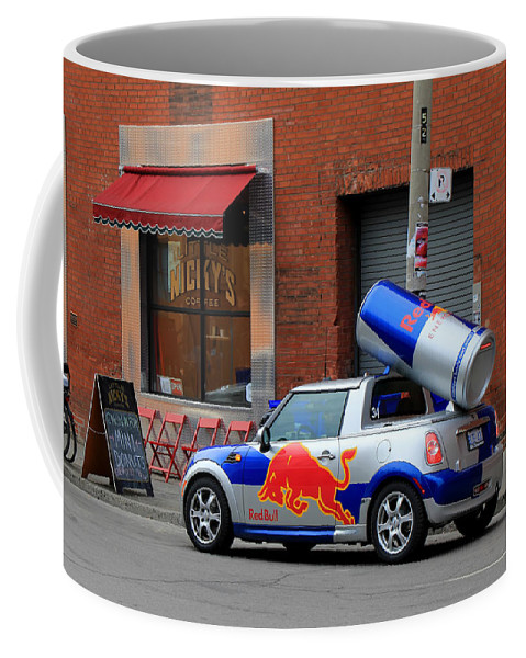 Red Bull Coffee Mug featuring the photograph Red Bull Car by Andrew Fare