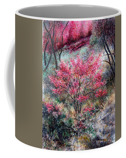Landscape Coffee Mug featuring the painting Red Bush by Valerie Meotti