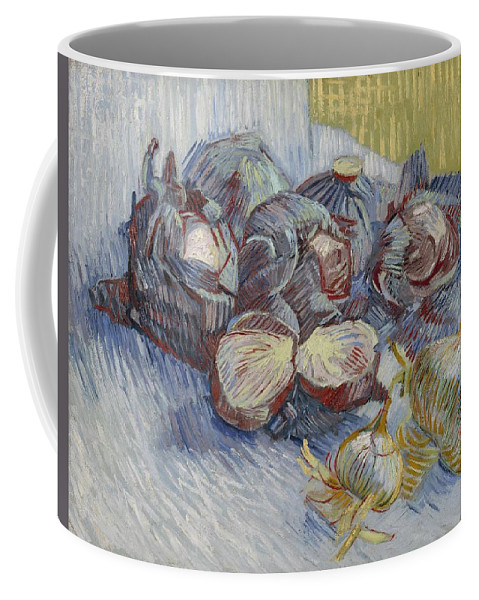 Nature Coffee Mug featuring the painting Red Cabbages And Onions Paris, October - November 1887 Vincent Van Gogh 1853 1890 by Artistic Panda