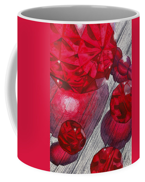 Red Coffee Mug featuring the painting Red by Catherine G McElroy