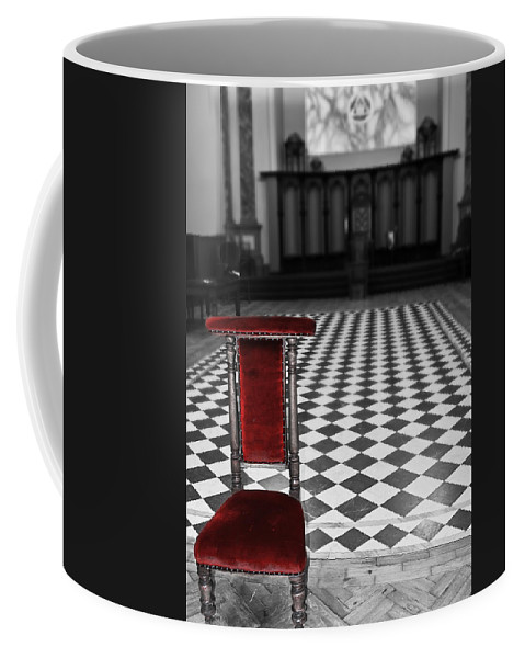 Beamish Coffee Mug featuring the photograph Red Chair by Svetlana Sewell