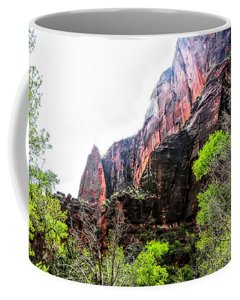 Zion National Park Coffee Mug featuring the photograph Red Cliffs Zion National Park Utah Usa by Chuck Kuhn