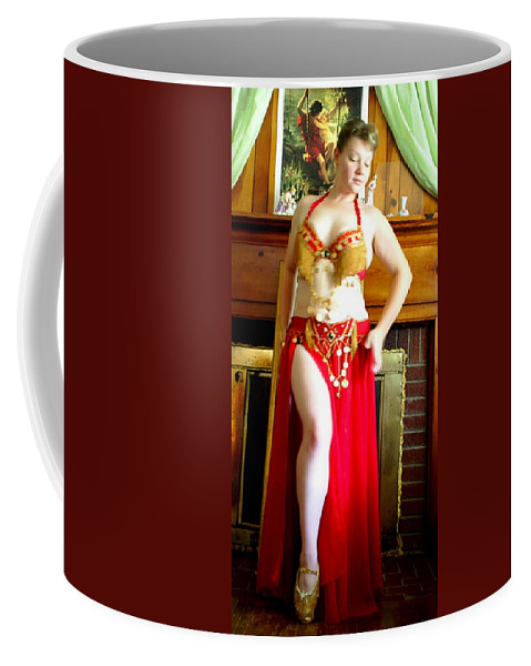 Belly Dancer Coffee Mug featuring the photograph Red Costume by Scarlett Royal