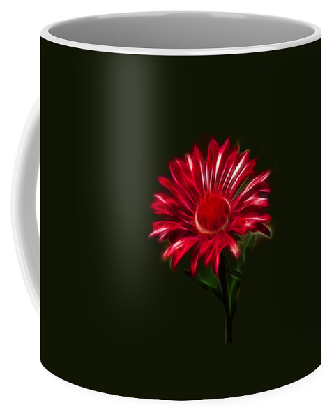 Daisy Coffee Mug featuring the photograph Red Daisy by Shane Bechler