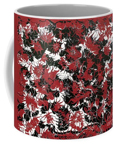 Keith Elliott Coffee Mug featuring the painting Red Devil U - Original by Keith Elliott