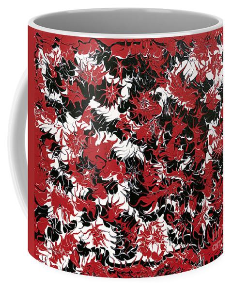 Keith Elliott Coffee Mug featuring the painting Red Devil U - V1cbs36 by Keith Elliott