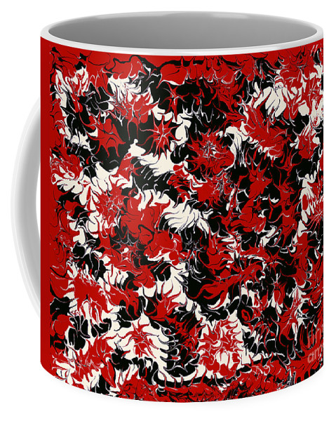 Keith Elliott Coffee Mug featuring the painting Red Devil U - V1vhkf100 by Keith Elliott