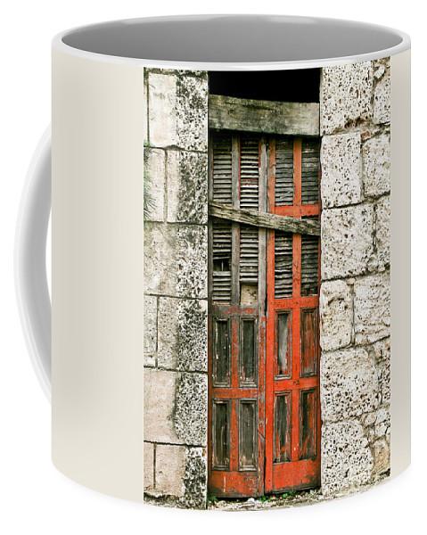 Door Coffee Mug featuring the photograph Red Door by Douglas Barnett
