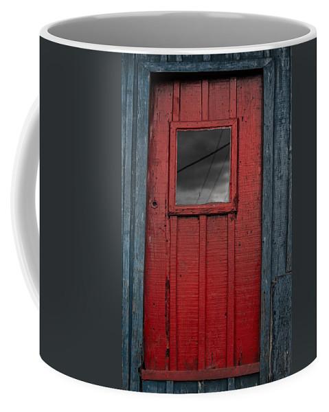 Red Door Coffee Mug featuring the photograph Red Door by Edgar Laureano