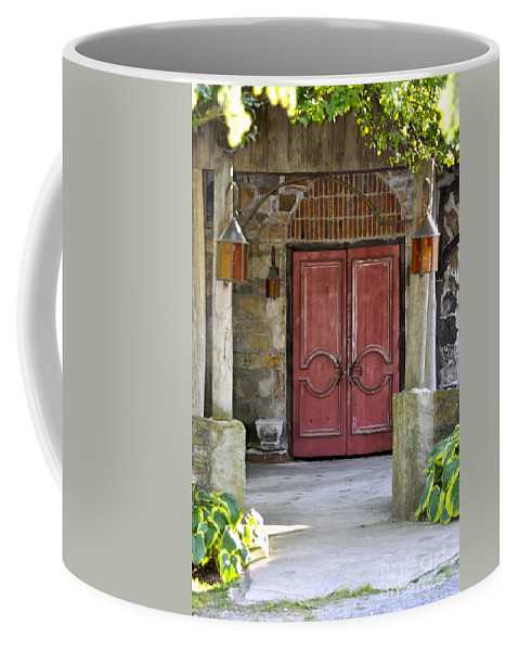 Red Door Photography Coffee Mug featuring the photograph Red Door by Penny Neimiller