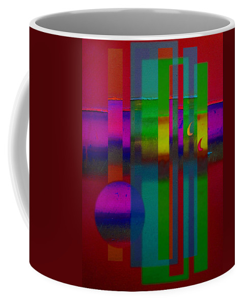 Landscape Coffee Mug featuring the painting Red Doors by Charles Stuart