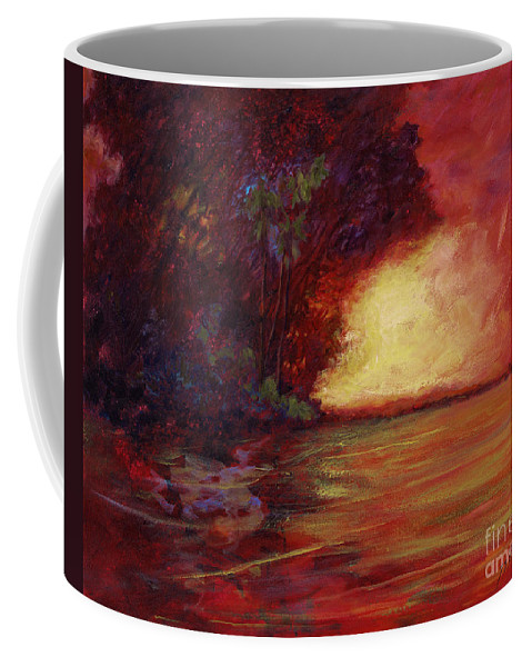 Impressionism Coffee Mug featuring the painting Red Dusk by Julianne Felton
