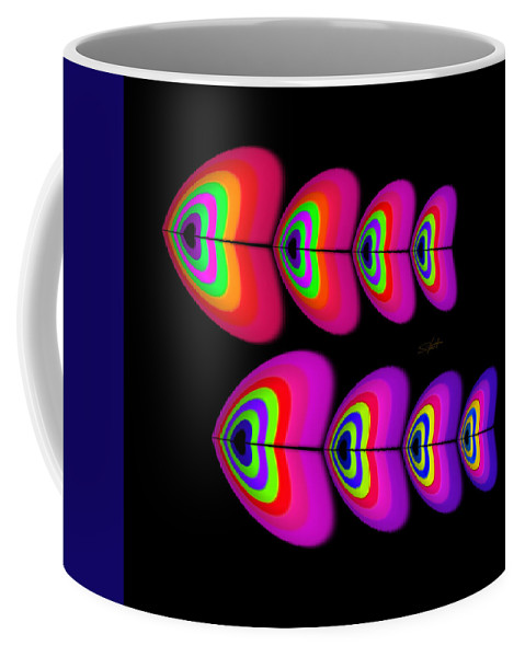 Fish Coffee Mug featuring the digital art Red Fish by Charles Stuart